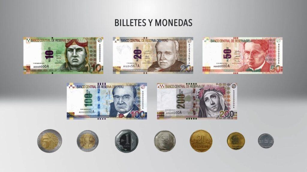 Monedas y billetes Peruanos