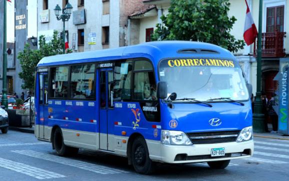 transporte publico Correcamino Cusco Perú